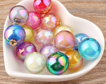 10pcs( 5 pairs)  16mm Glass Ball Earring Back Stoppers Mixed Colors