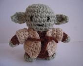 Crocheted Stuffed Amigurumi Star Wars Yoda Plush Toy