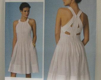 VOGUE Designer Dress Pattern, Rebecca Taylor Dress Pattern, VOGUE 1446 Dress Pattern, Resort Wear, Party Dress Pattern, SZ 12 through 16