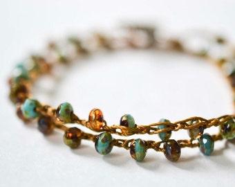 Earthy Boho Wrap Bracelet, Beaded Wrap Bracelets Women, Stacked Bracelets, Bohemian Bracelet Set, Gift for Women, Womens Gift, Gift for Her