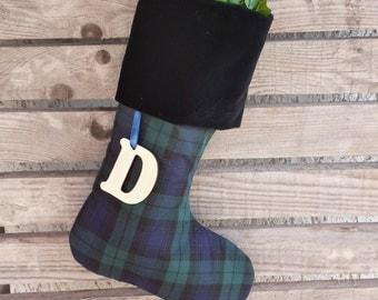 MacKay tartan stocking, plaid stocking, tartan Scottish stocking