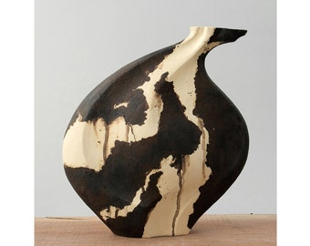 The Seed - Mixed Clay - Ceramic Sculptural Vessel - Interior Design Ideas