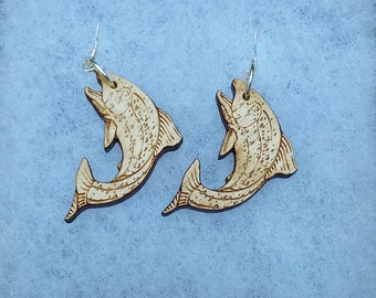 Laser Cut Trout Earrings