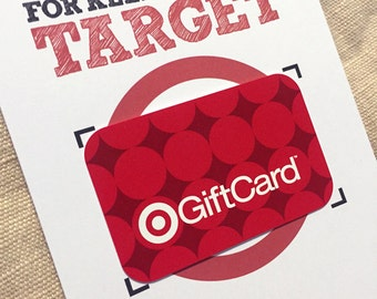 Teacher Gift - 5x7 Thank You for Keeping Me on Target - Printable Gift Card Gift for Teachers - Target Gift Card