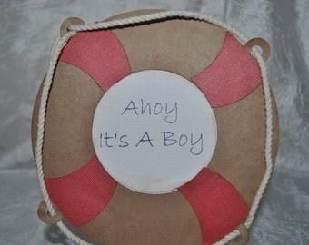 Nautical Baby Shower Invitation-Boy-Ahoy-It's a Boy-Baby-Shower