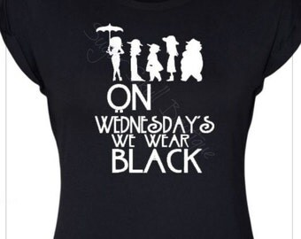 Coven! We wear Black on Wednesday!  - Horror  - Occult -  Halloween -  Supreme - Witch - Story - Gift - American - Tee - T shirt - Gothic