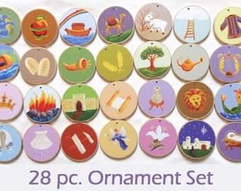 Advent Jesse Tree Ornaments - Multi-Colored