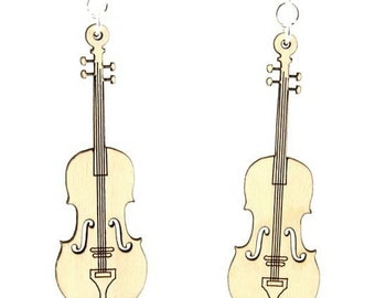 Violins - Musical Earrings made from Reforested Wood