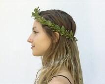 Olive Leaf Crown, Leaf Headband, Leaf Crown, Green, Headpiece, Olive, Greek, Crown, Leaf Headpiece, Men's, Circlet