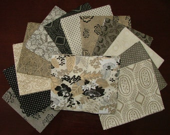 Black Tie Affair Fat Quarter Bundle of 13 with Cream Main Print by BasicGrey for Moda