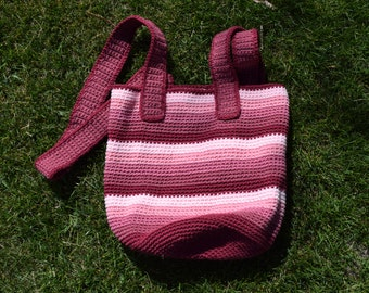 crochet bag//women's tote//pink//Large//beach bag