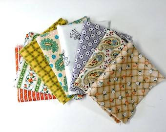 1930s Prints Fabric Bundle  - 8 quarter yard cuts - 8 Fabric Bundle - Big Lot Quilting Cottons - Scrapbooking Crafts  Quiltsy Destash Party