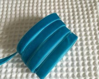 3 Yards Dress Blue Velvet Ribbon 3/8 inch - 44