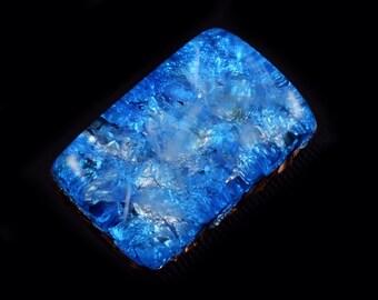 Pocket Orgonite Orgone Generator.. Tibetan Crystals, Phenacite, Petalite, Moldavite, Fluorite, Tourmaline, Elite Shungite, Gold Powder (g2)