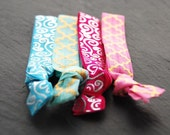 Knotted Elastic Hair Ties, Pony Tail Holders, Wrist Tie Bracelets, Colorful Hair Ties, Hair Accessory, Fashion, LoveandCherish