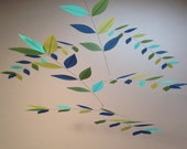 Silk Leaf Mobile Tree Leaves Impressionist Monet Hand Dyed Mobile
