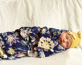 Baby girl swaddle blanket Coming home outfit Newborn girl clothes Girl take home outfit Baby girl hat hipster baby clothes baby photo prop