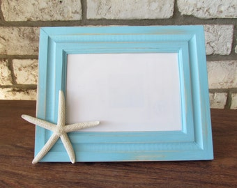 Beach Cottage Picture Frame with Starfish
