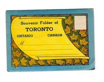 Vintage Toronto Ontario Canada Postcard Souvenir Folder
