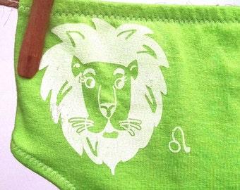 Leo Zodiac Women's Underwear - Recycled Cotton - Size 8 - Ready to Ship