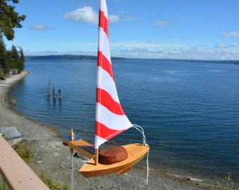 NEW - Solo Sailboat Whirligig