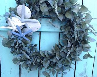 Blue Moon Beach Wreath