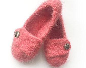Rouge Womens Felted Wool Slippers