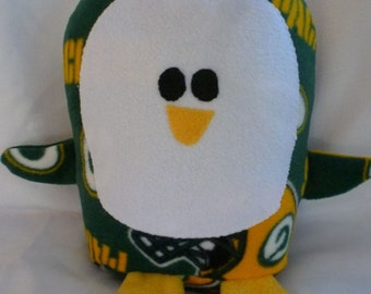 Plush Green Bay Packers Penguin Pillow Pal, Baby Safe, Machine Wash and Dry