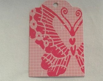 Up-Cycled Butterfly Tag Set of 3