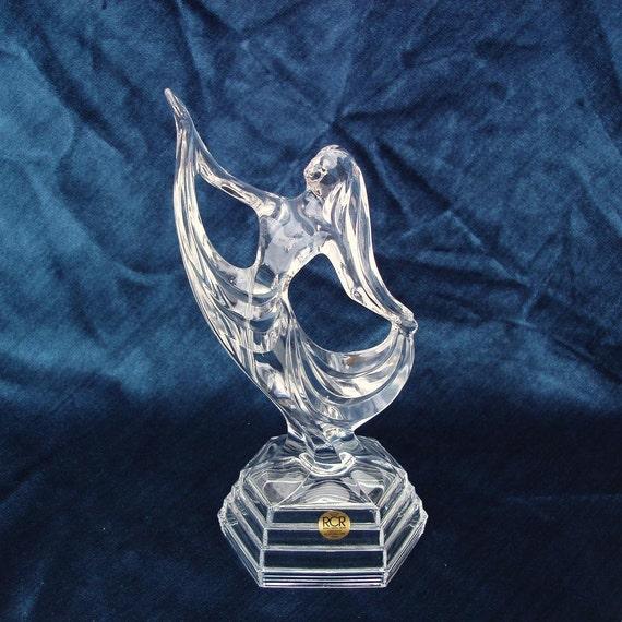 Art Deco Lady Cake : Vintage Crystal Figurine Art Deco Lady Italian Art by ...