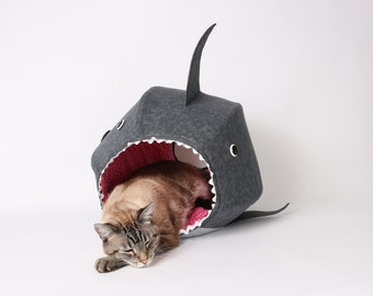 The Shark Cat Ball Cat Bed a Funny Pet Bed