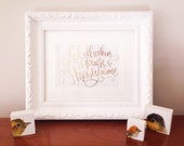 Let All Within Us Praise His Holy Name 5x7 Holiday Gold Foil Print
