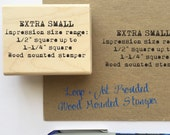 EXTRA SMALL - Logo Art - Custom Wood Mounted Rubber Stamp - Impression Size Range Of 1/2 Inch Square Up To A Maximum 1-1/4 Inches Square