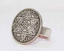 Silver Moroccan Coin Ring