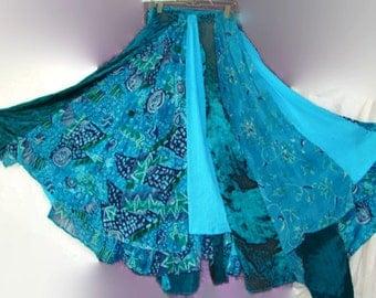 Down Payment ON patchwork skirt hippie skirt boho skirt bohemian skirt gypsy skirt festival skirt tribal skirt boho wedding circle skirt