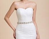 Bridal Sash Belt Wedding Dress Sash Belt Rhinestone Wedding Sash Belt Rhinestone Sash Belt Ivory Ribbon SA010LX