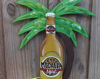 MADALLA LIGHT  -  Tropical Paradise Beach House Parrothead Pool Patio Tiki Hut Bar Drink Handmade Wood Sign Plaque