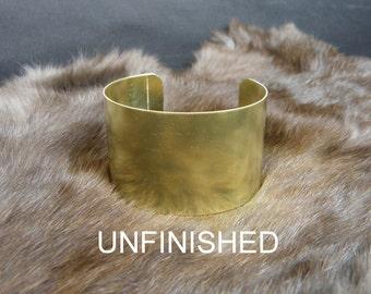 "1 3/4"" x 6"" (1.75 x6) 20 guage .032 Brass Cuff Bracelet Blank unfinished"
