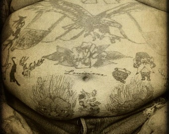 Fine Art Photography Print Tattoos Wall Art Vintage Art Prints