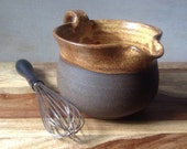 Rustic Modern Mixing Bowl, Handmade Pottery Batter Bowl, Blue Batter Bowl, Kitchen Essentials, Handmade Ceramics for the Kitchen