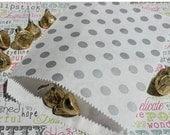 XOXO SALE 100 Silver Metallic Polka Dot Party Favor Bags, Wedding favor Bags, Popcorn Bags, Polka Dot Candy Bags, Silver Candy Bags