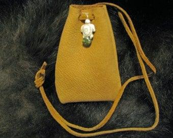 Turtle Totem Medicine Bag Leather Bag Pouch Handmade