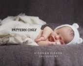 CROCHET PATTERN Newborn Bear Bonnet Pattern only Mohair Photography Prop Pattern Newborn Photography Prop