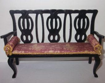 Dollhouse Oriental three-seat-sofa, scale 1/12
