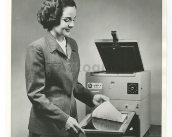 Vintage Machinery - First Xerox Machine - Vintage 8x10 Photograph