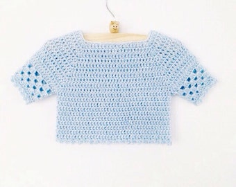 Crochet Baby Sweater Pattern PDF - Instant Download