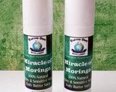 Miracle of Moringa 100% Natural Baby & Sensitive Skin Body Butter Stick. Organic, Superfood, Gluten Free, Travel Size .5 oz Tube