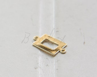 One Piece / Gold Plated / Brass Base / Charm / Link 18x9mm (C2003//K521)