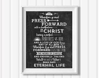 YM/YW 2016 LDS Theme Poster - Press Forward - Digital File