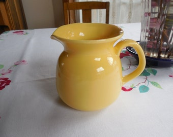Vintage Buttercup Yellow Creamer Pitcher Excellent